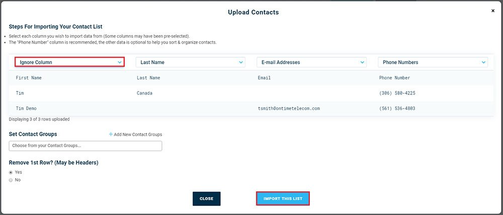 Import Contacts Assign Data - Version 3