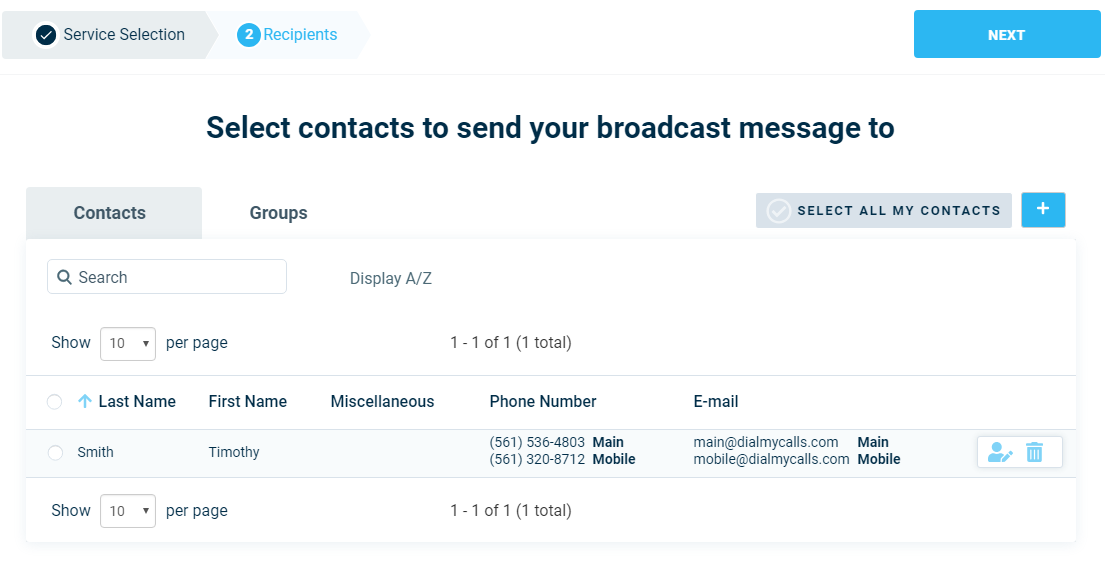 Select Contacts With Labels - DialMyCalls